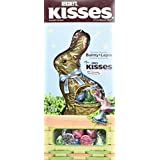 HERSHEY'S Chocolate Easter Bunny, Filled with Kisses, 170 Gram)