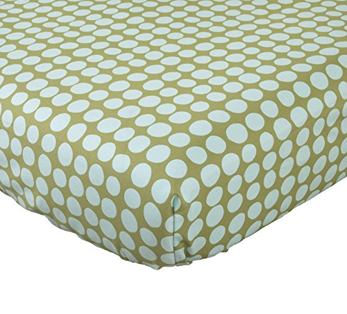 - Cotton Tale Designs Lagoon Sheet, Turquoise/Green, Standard Crib