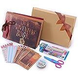 Our Adventure Book Pixar Up Handmade DIY Family Scrapbook,  Wedding Photo Album, Retro Album, Anniversary Scrapbook,  Wonderful Gift for Thanks Giving Gift,  Christmas Gift ,with Bonus Gift Box