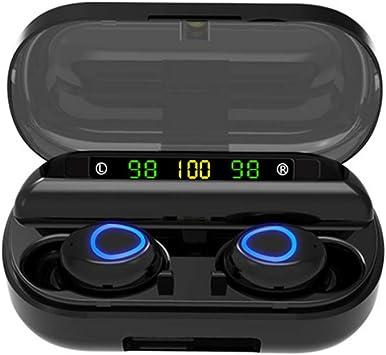 Fesjoy Auriculares V10 Auriculares BT5.0 Auriculares de Doble Oreja Auriculares estéreo de Alta definición con Oreja Estuche de Carga: Amazon.es: Electrónica