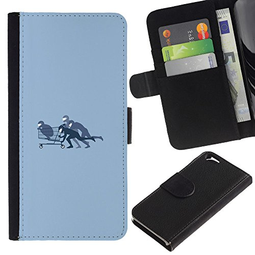 Funny Phone Case // Cuir Portefeuille Housse de protection Étui Leather Wallet Protective Case pour Apple Iphone 6 / Panier Bobby /