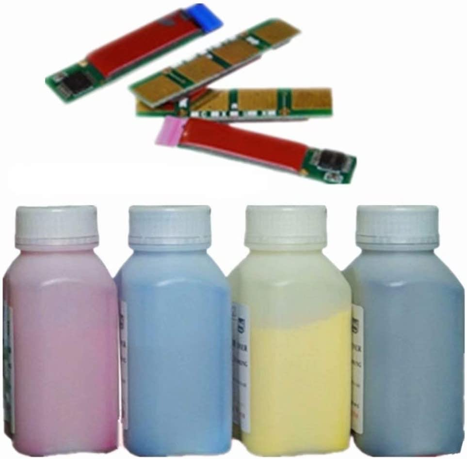 Refill Color Laser Toner Powder Kits for Samsung CLX 3185 3185FN 3185FW 3185N 3185W 3186 3186N 3186FN 3180 CLT407 Laser Laser Printer Toner Powder 40g//Bottle,No Chips,4 Black