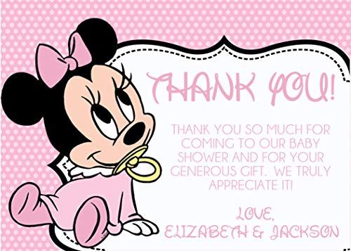 Personalized Minnie Mouse Baby Shower Thank You Cards With Envelopes]()