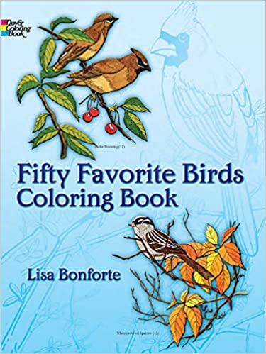 Fifty Favorite Birds Coloring Book (Dover Nature Coloring ...