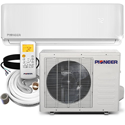 Hvac Systems - Pioneer WYS012-17 Air Conditioner Inverter+ Ductless Wall Mount Mini Split System Air Conditioner & Heat Pump Full Set, 12000 BTU 115V