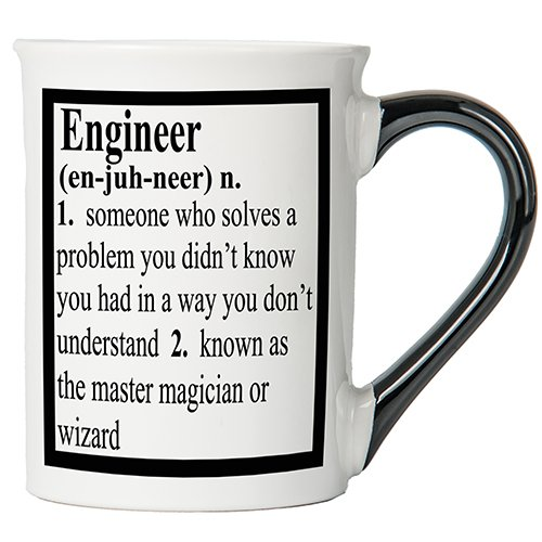 Cottage Creek Engineer Gifts Large18 Ounce Ceramic Engineer Coffee Mug/Dad Gifts [White]