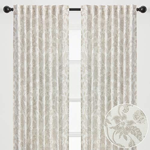 Best window curtain panel: Chanasya 2-Panel Silhouette Floral Paisley Soft Textured Light Filtering Curtain Panels