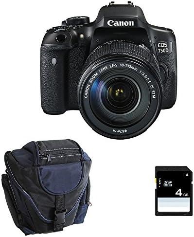 CANON EOS 750D + 18-135 IS STM + Sac + SD 4Go: Amazon.es: Electrónica