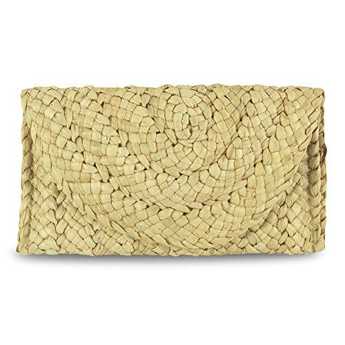 ilishop Straw Clutch Handbag Women Straw Purse Envelope Wallet, ilishop Summer Beach Bag ()