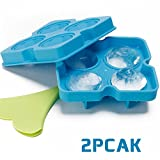 Image of Ice Cube Trays with Lids, Diamond-Shaped Silicone BPA-Free Stackable Easy Release Ice Molds Multifunctional Storage Containers for Ice, Whiskey, Candy and Chocolate by Bella Vino(Blue-2Pack)