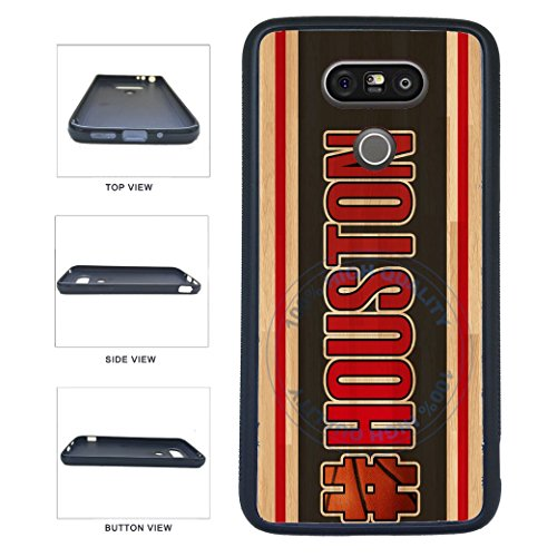 BleuReign(TM) Basketball Team Hashtag Houston #Houston TPU RUBBER SILICONE Phone Case Back Cover For LG G5