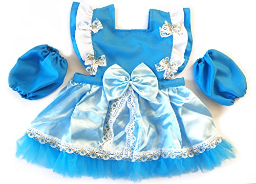 Princess Apron (IMC.Collab Girls Princess Dress Up Kitchen Apron Costume Oversleeves Set (110CM=43.31', Elsa))