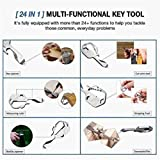 2PCs 24-in-1 Multi-Tool Key, Lightweight All-in-One