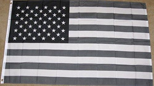 3x5 Black & White American Flag B/W Usa Economic Recession T