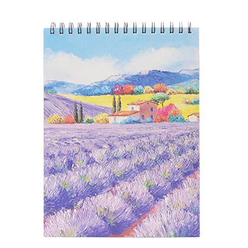 Art Travel Sketchbook(8x11inches) Blank Sheets,Durable Quality Paper,Lavender