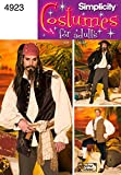 Simplicity Men39;s Sewing Pattern 4923 Pirate Fancy Dress Costumes