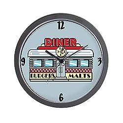 CafePress 1950'S Retro Diner Unique Decorative 10 Wall Clock