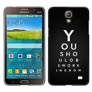 Caucho caso de Shell duro de la cubierta de accesorios de protección BY RAYDREAMMM - Samsung Galaxy Mega 2 - Usted debe estar trabajando