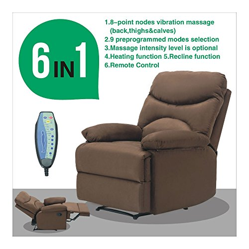 Microfiber Massage Recliner Ergonomic Control Advantages