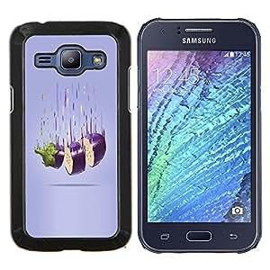 EJOOY---Cubierta de la caja de protección para la piel dura ** Samsung Galaxy J1 J100 ** --Corte berenjena