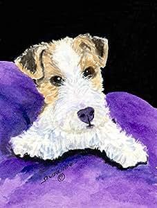 Bandera de Fox Terrier, poliéster, Multicolor, grande