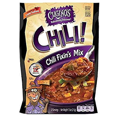 Cugino's Gourmet Foods Chili Fixin's Mix, 6-Pack