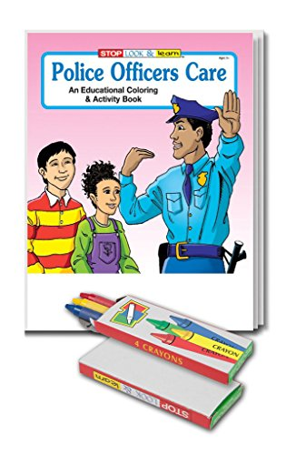 Police Officers Care (25 Pack) Kid's Coloring & Activity Books & Crayon Sets in Bulk -