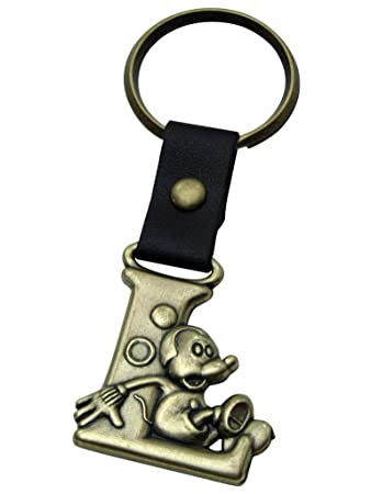 Amazon.com: Mickey Mouse Letra L Disney Llavero de latón ...