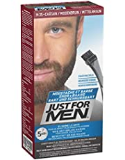 Just For Men Moustache & Barbe Teinture Barbe, Châtain Moyen - 28 g