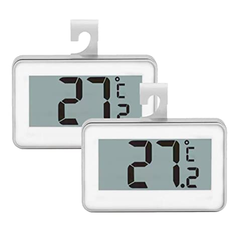 Juego de 2 termómetros para frigorífico, monitor digital de ...