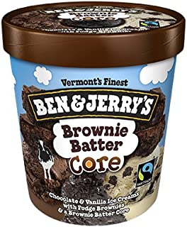 product image for Ben & Jerry's - Vermont's Finest Ice Cream, Non-GMO - Fairtrade - Cage-Free Eggs - Caring Dairy - Responsibly Sourced Packaging, Brownie Batter Core, Pint (8 Count)