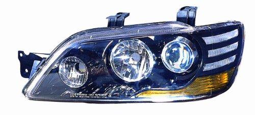 Mitsubishi Lancer Projector Headlights - Depo M14-1101P-AS2 Mitsubishi Lancer Black Headlight Projector Pair Set
