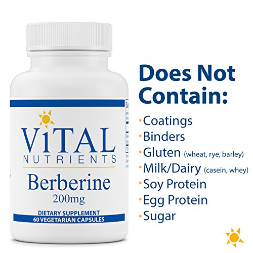 Vital Nutrients - Berberine 200 mg - Supports Regular and Normal Bowel Function - 60 Capsules by Vital Nutrients (Image #4)