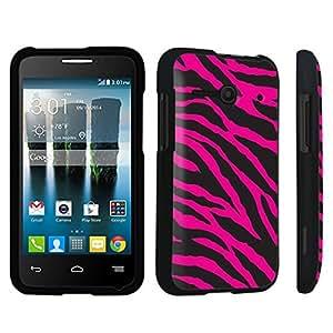 DuroCase ? Alcatel OneTouch Evolve 2 4037T Hard Case Black - (Zebra Black Pink)