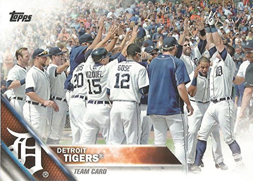 Detroit Tigers 2016 Topps MLB Baseball Regular Issue Complete Mint 20 Card Team Set with Miguel Cabrera, Justin Verlander - Team Tigers Detroit