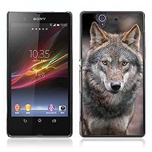 Super Stellar Slim PC Hard Case Cover Skin Armor Shell Protection // V0000957 Wolf Animal Pattern // Sony Xperia Z L36H L36I