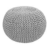 Hoooked Crafts Eco DIY Crochet Knit Box Gift Kit - Pouf - Grey (Zpagetti)