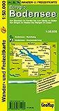 Wander- u. Freizeitkarte Euregio Bodensee 1:50 000 - Von Stockach im Norden bis zum Säntis im Süden; Von Singen im Westen bis Wangen im Osten (Geo Map)