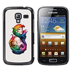 Estuche Cubierta Shell Smartphone estuche protector duro para el teléfono móvil Caso Samsung Galaxy Ace 2 I8160 Ace II X S7560M / CECELL Phone case / / Watercolor Art Woman Mermaid Fai