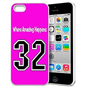 GXFC Case Unique Design Basketball Sportsman Uniform Where Amazing Happens 32 Pattern HD Durable Hard Plastic Case Cover for iphone 5/5s