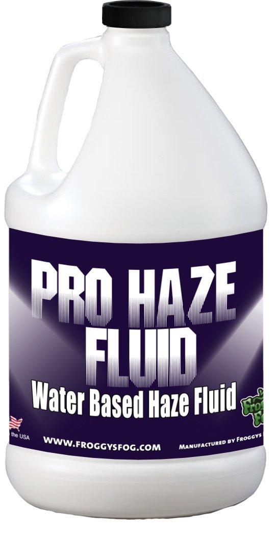 Froggys Fog - High-Performance Haze Fluid for Hurricane Haze 2 & Fog Machines - Pro Haze Juice - Water Based Haze Fluid - 1 Gallon