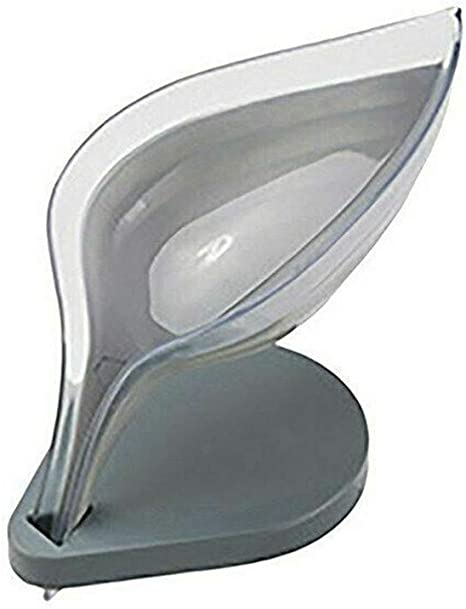 WMKJDS 3//4 Pieces Self Draining Soap Dish Holder Leaf Shape 3P Keep Soap Dry and Clean Not Punched Decorative Drainage Soap Box BPA-Free Durable Plastic Soap Case