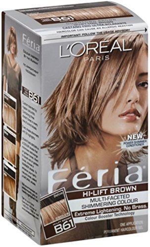 L'Oreal Feria Permanent Hair Colour, Cool, B61 Hi-Lift Brown 1 ea by L'Oreal Fria by L'Oreal Fria