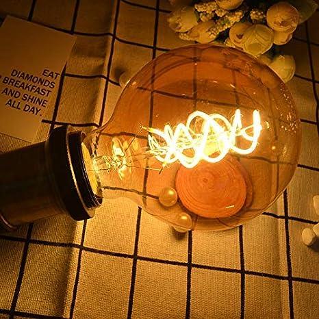 no regulable GBLY Bombilla LED Edison E27 Bombilla Edison grande retro 4W L/ámparas de globo de filamento decorativo Bombilla antigua blanca c/álida para iluminaci/ón retro en la casa Cafe Restaurante