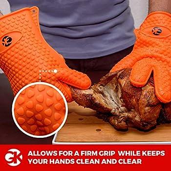 10//XL WMF 690336030 Paire de gants de barbecue en coton r/ésistant /à la chaleur Extra long Taille pratique