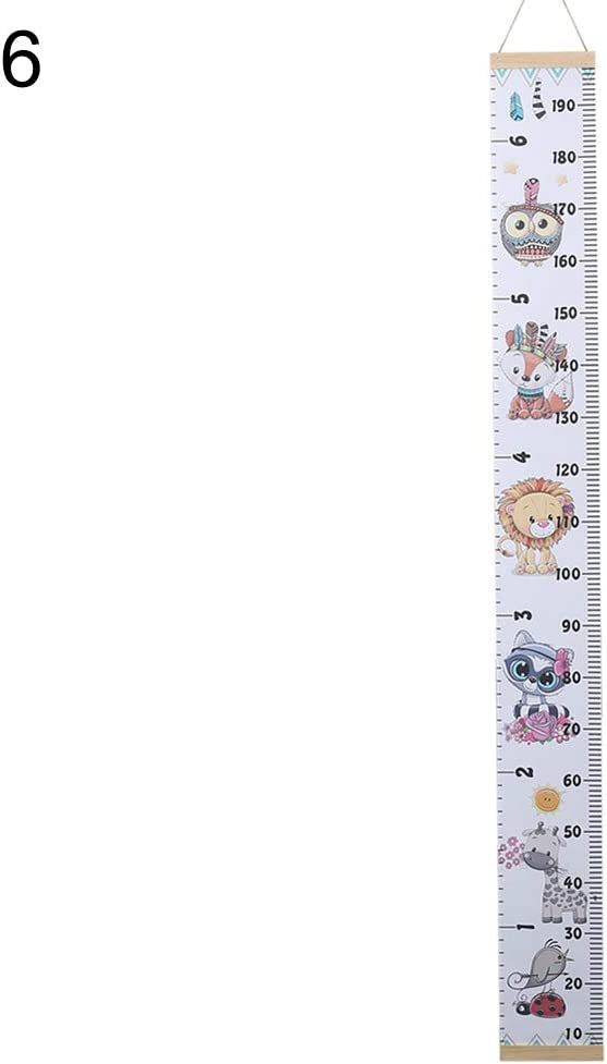 1# Baby Growth Chart Wall Sticker CONSTR Cartoon Animal Pattern Magnetic Measuring Rulers for Kids Boys Girls Room Decoration Nursery Removable Height and Growth Chart
