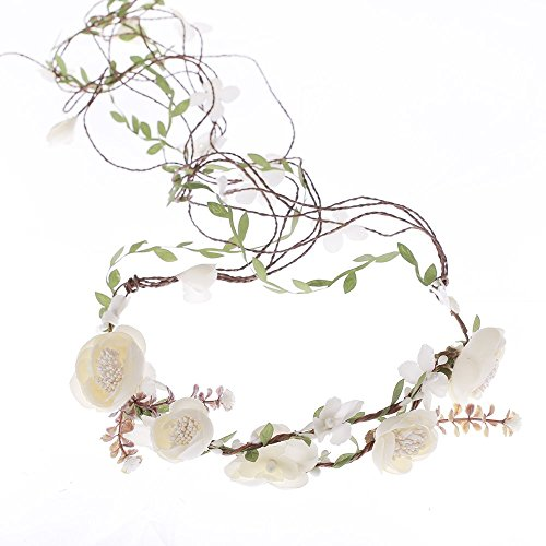 Price comparison product image Ever Fairy Berries Flower Crown with Adjustable Vines Tiaras Necklace Belt Party Decoration Wedding Festivals