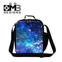 GIVE ME BAG Generic Galaxy Printed Lunch Bags for Kids Insulated Lunch Box Cooler for Adult