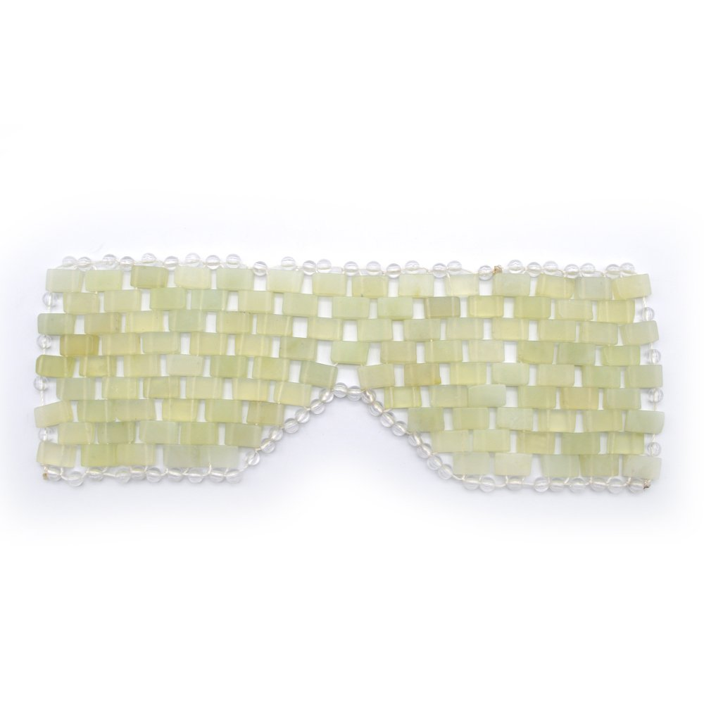 Natural Jade Sleep Mask & Blindfold, Natural Jade Eye Mask, Anti-aging Hot or Cold Therapy Eye Mask Which is Soothing Cooling Detoxifying (Xiuyan Jade) RODEREK
