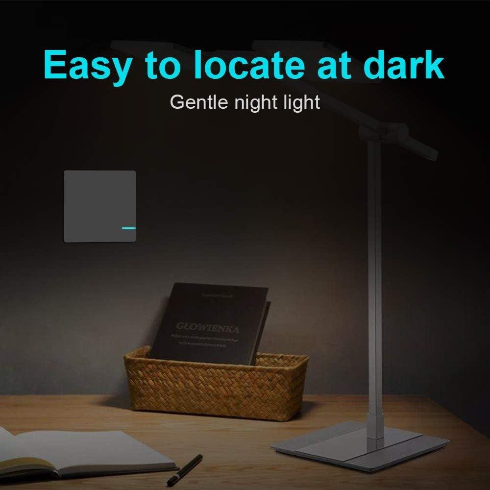 Interrupteur sans fil pour interrupteur /à lumi/ère Panneau avec 2 r/écepteurs Interrupteur mural /émetteur Affichage /à distance Pour la maison le bureau lh/ôtel Lampe LED